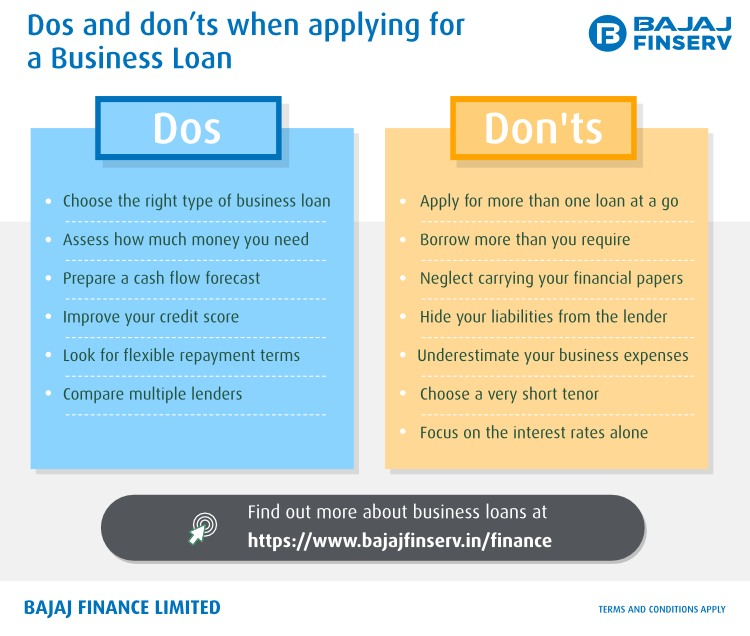 Dos and Don'ts when applying for a Business Loan