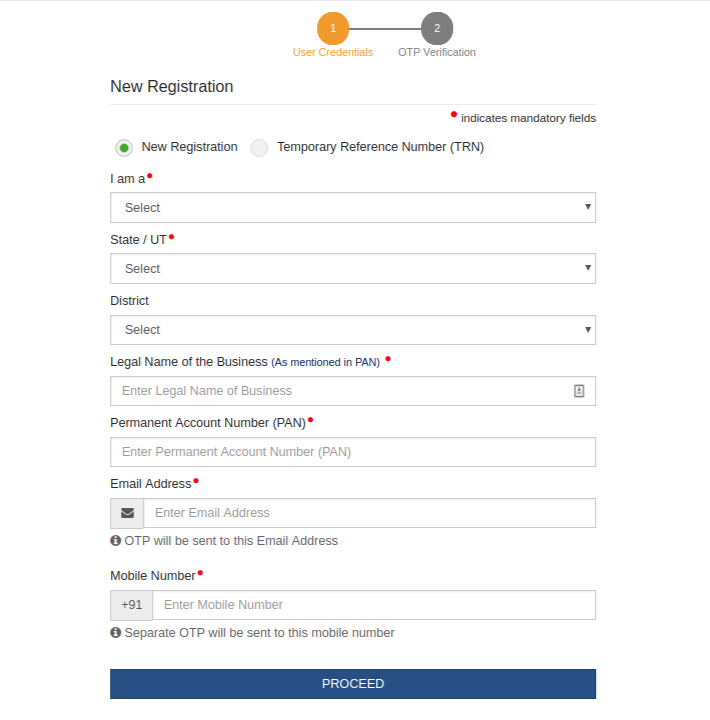 GST Registration Form