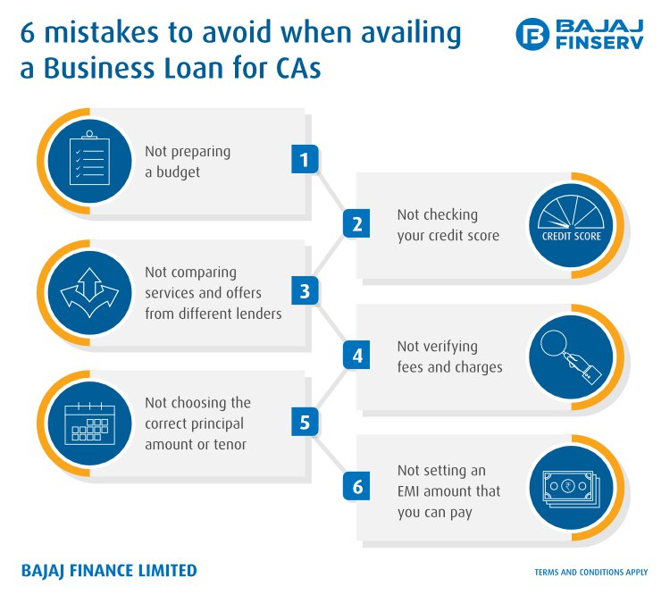 Mistakes to avoid when availing a CA Loan