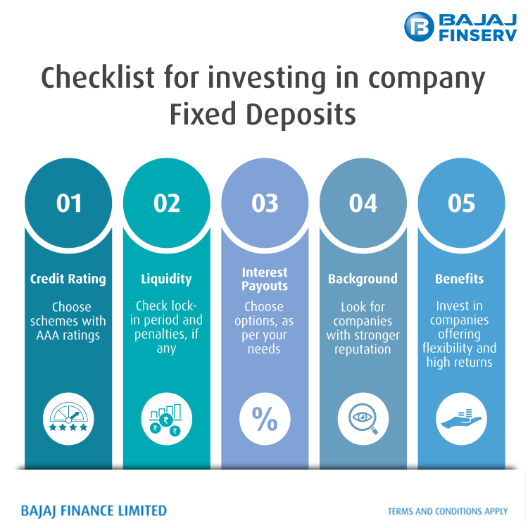 checklist for fixed deposit