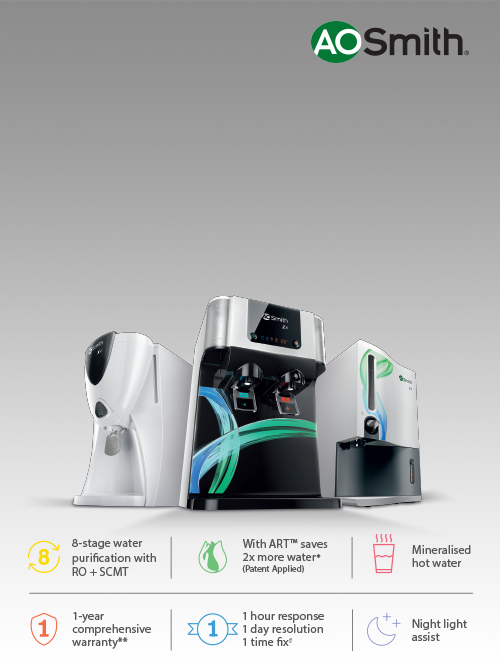 A. O. Smith Water Purifiers on easy EMIs
