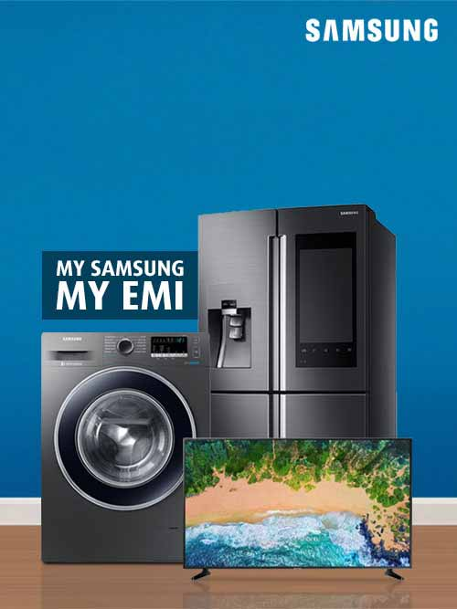 Bring home Samsung home appliances on EMIs starting Rs. 990